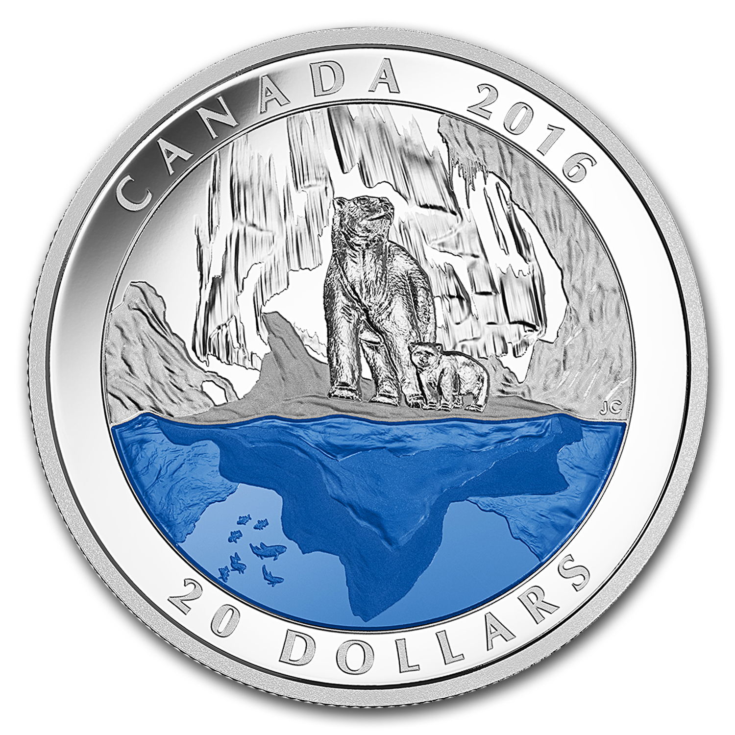 2016 Canada 1 oz Silver $20 Proof Iconic Canada Polar Bear