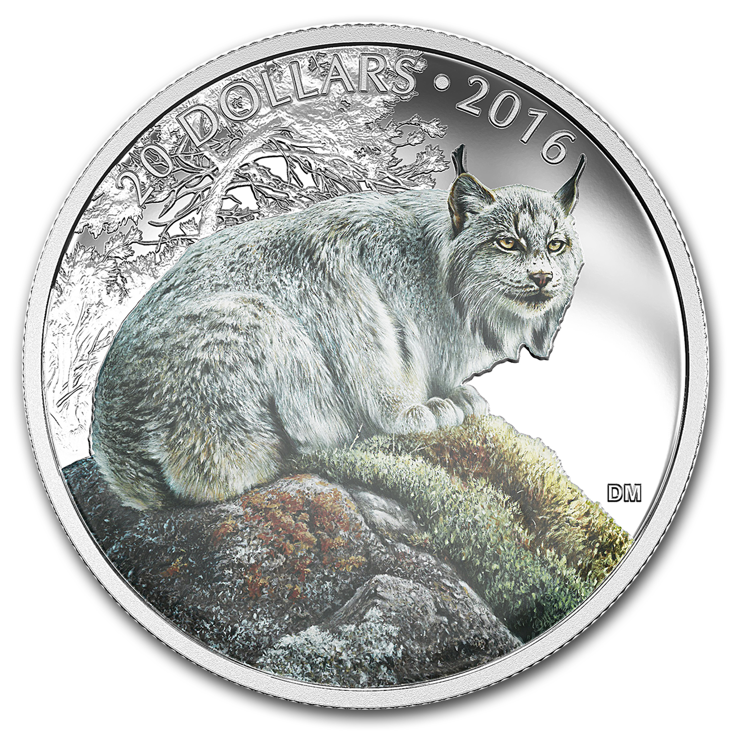 2016 Canada Proof 1 oz Silver $20 Commanding Canadian Lynx