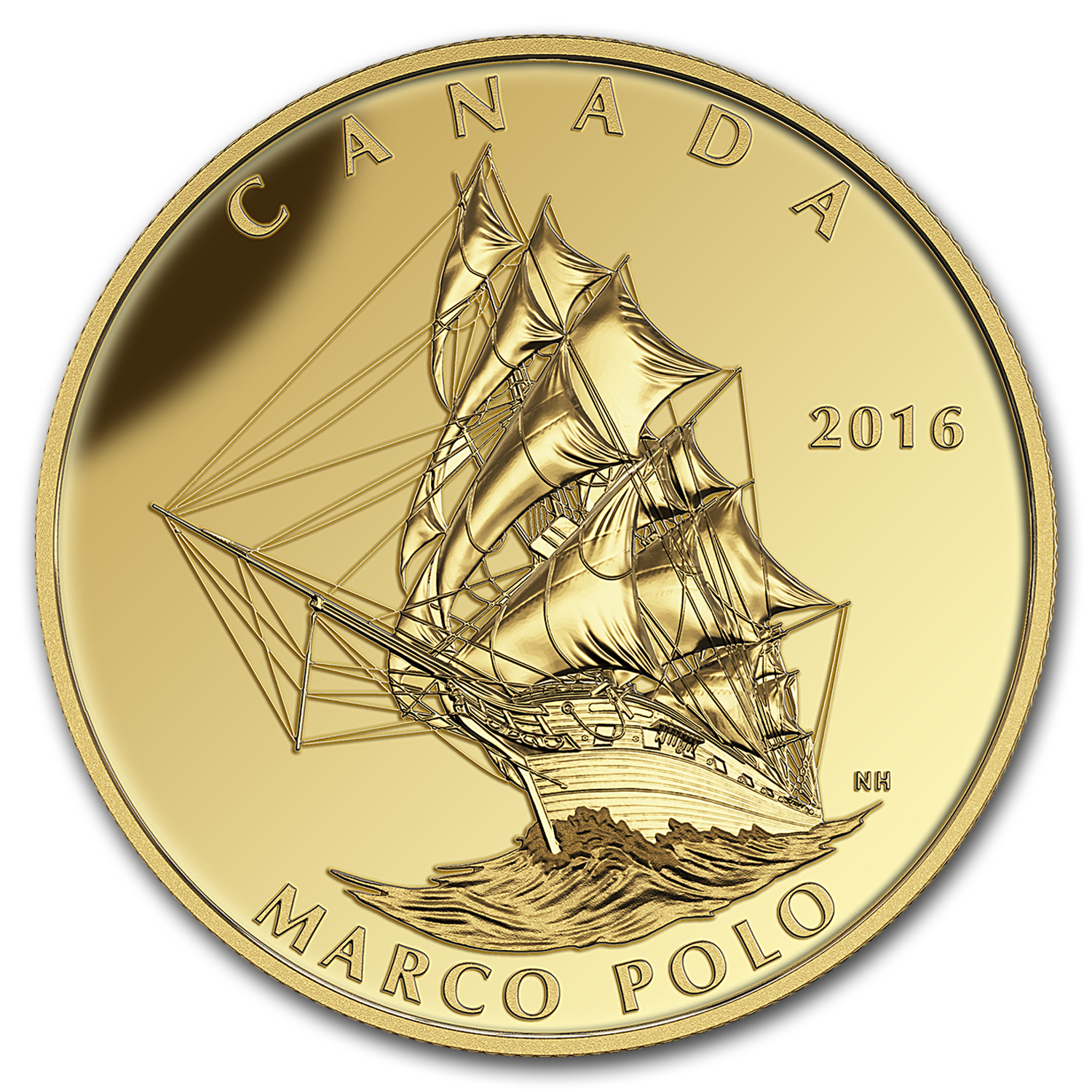 2016 Canada 1 oz Proof Gold $200 Tall Ships: Marco Polo