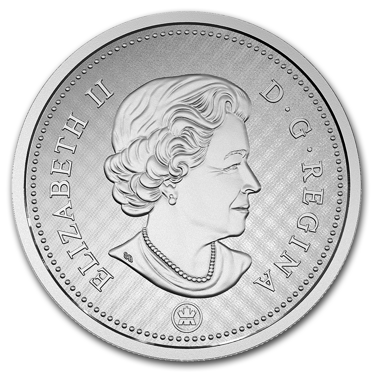 2016 Canada 5 oz Silver $1 Big Coin Series: 5 Cent Coin