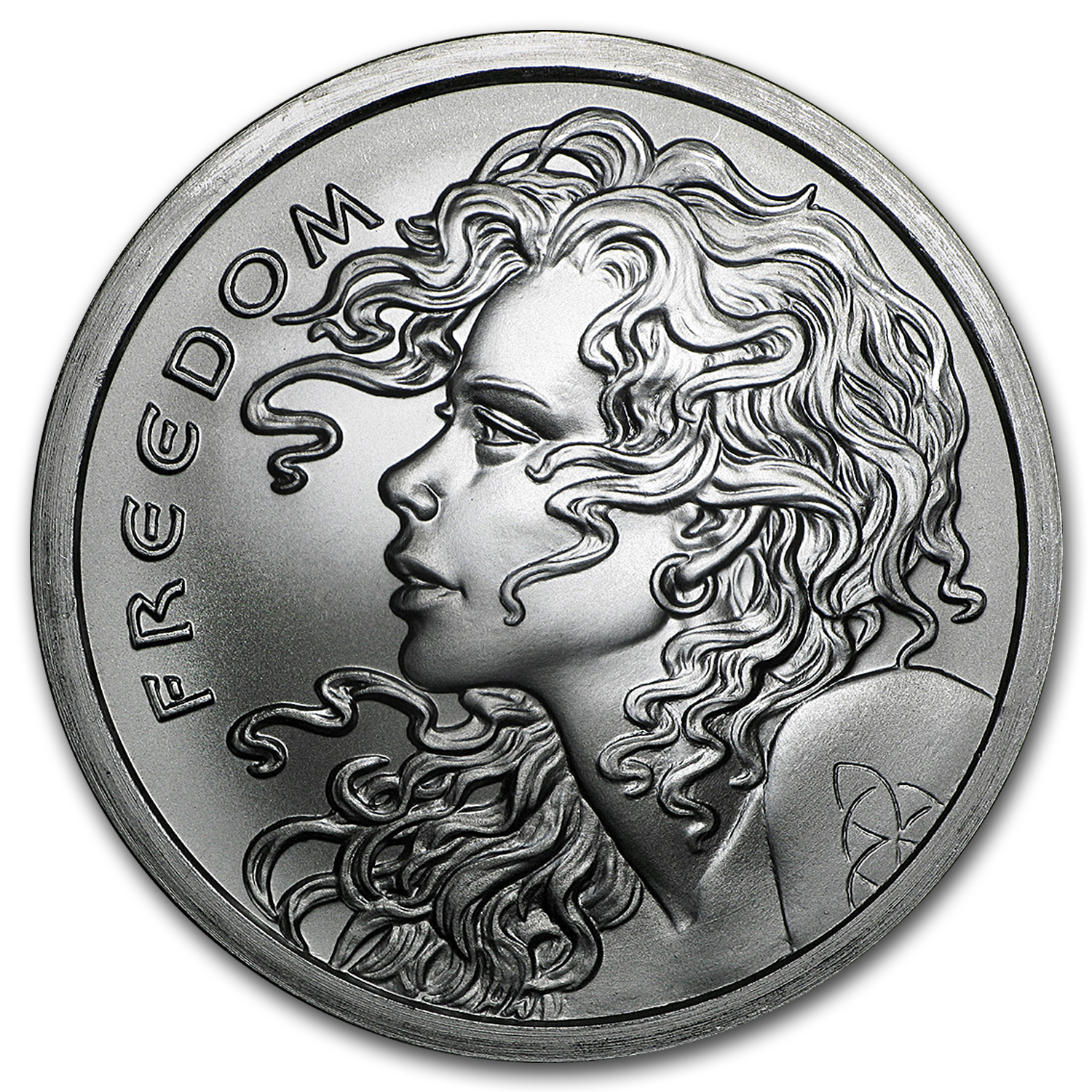 2016 2 oz Silver Shield Round - Freedom Girl