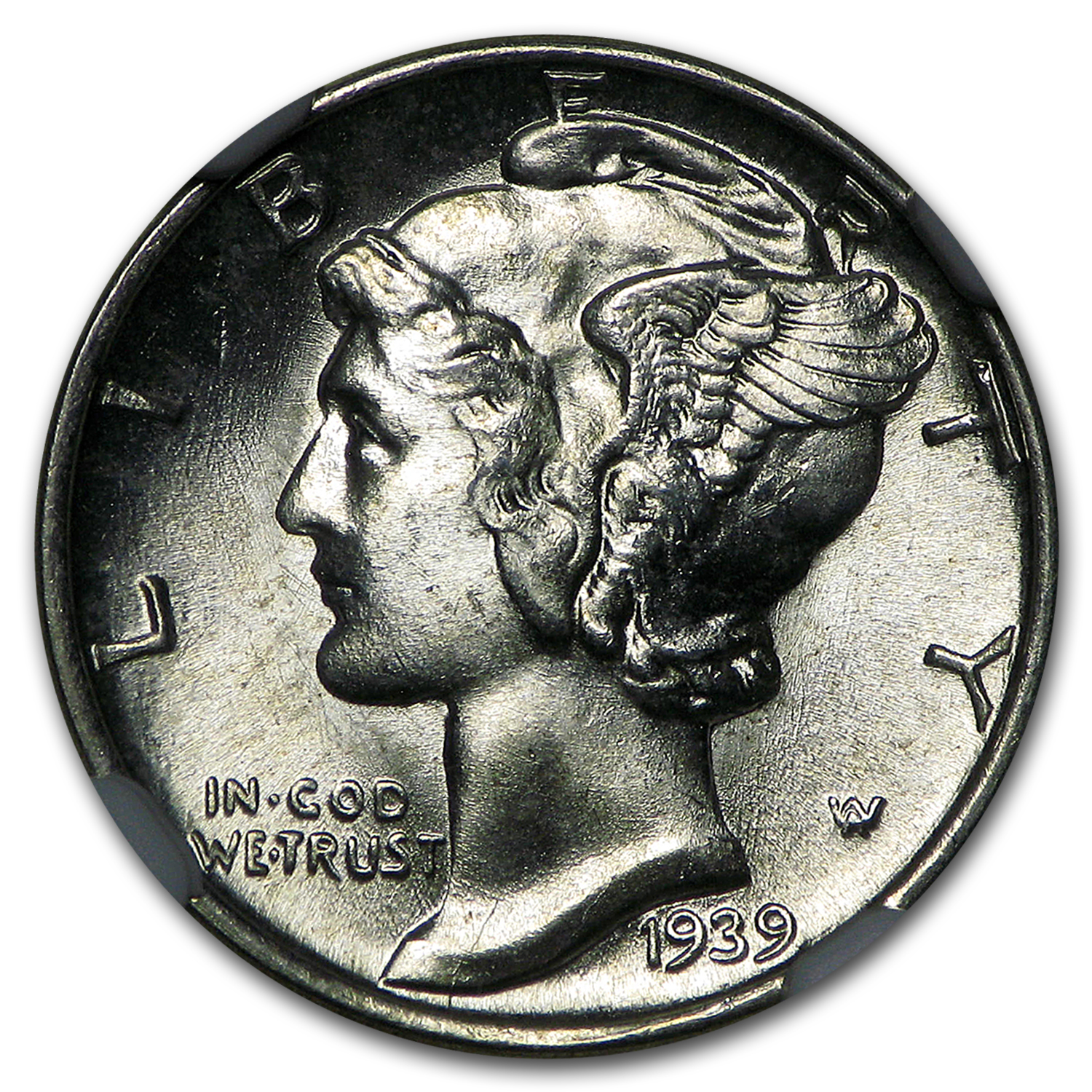 1939 Mercury Dime MS-66 NGC