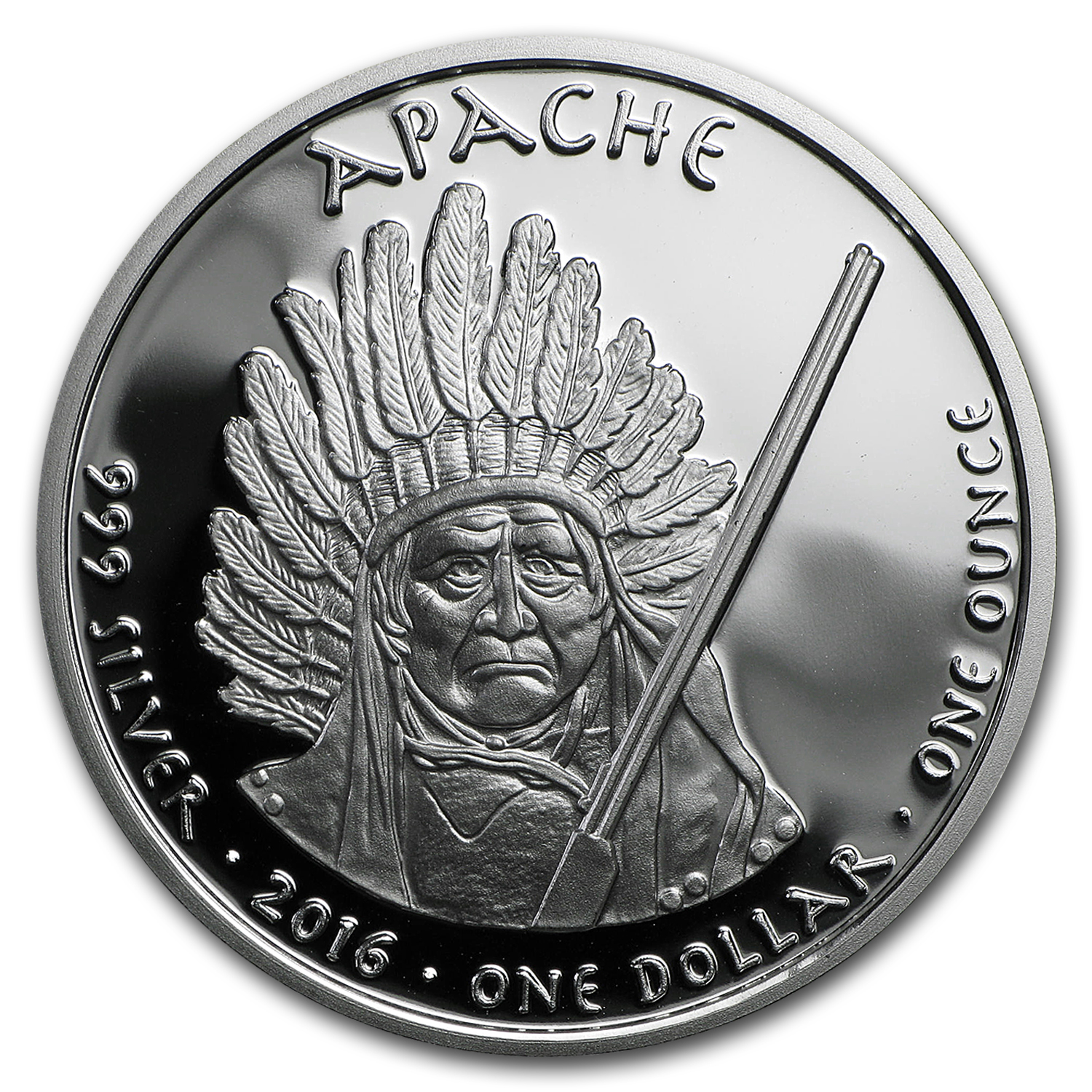 2016 1 oz Silver Proof State Dollars Arizona Apache