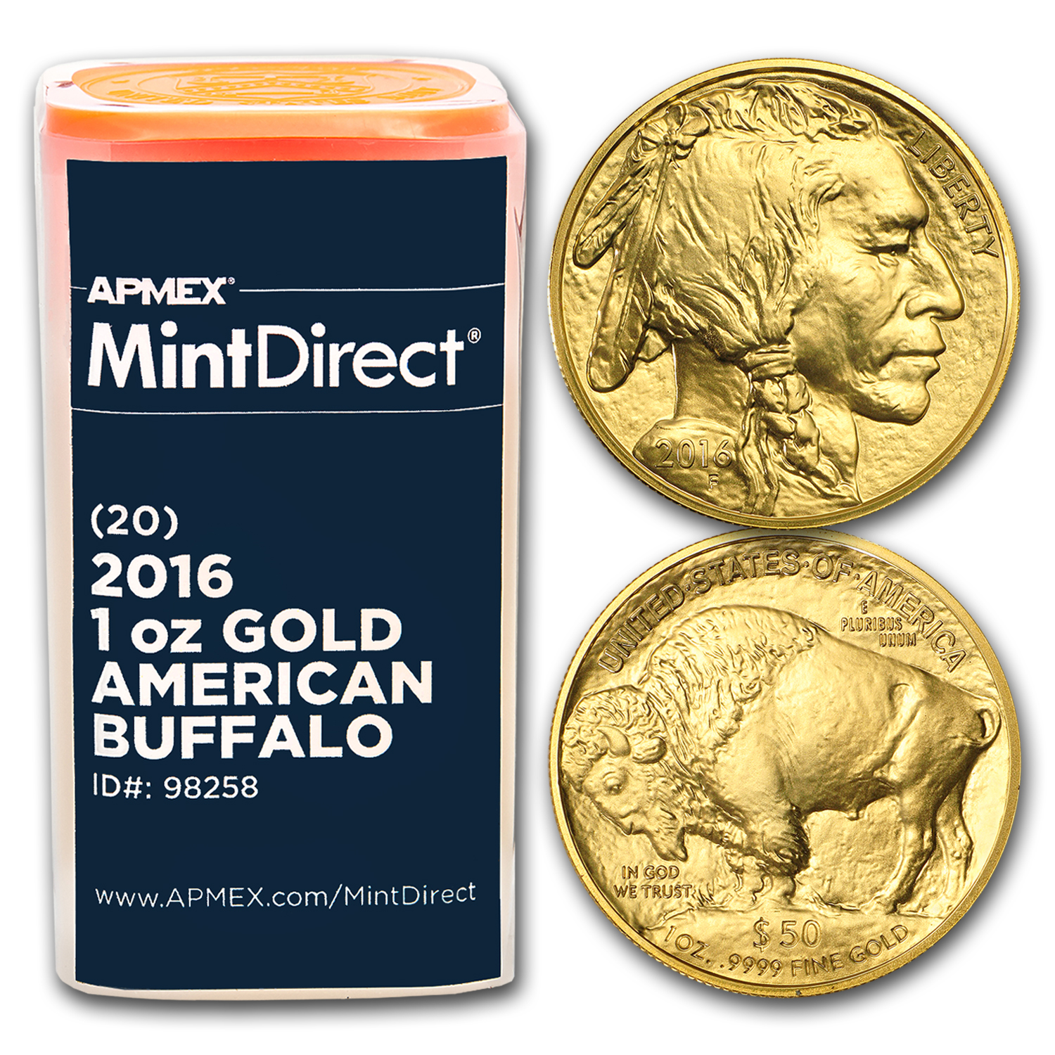 2016 1 oz Gold Buffalo (20-Coin MintDirect® Tube)