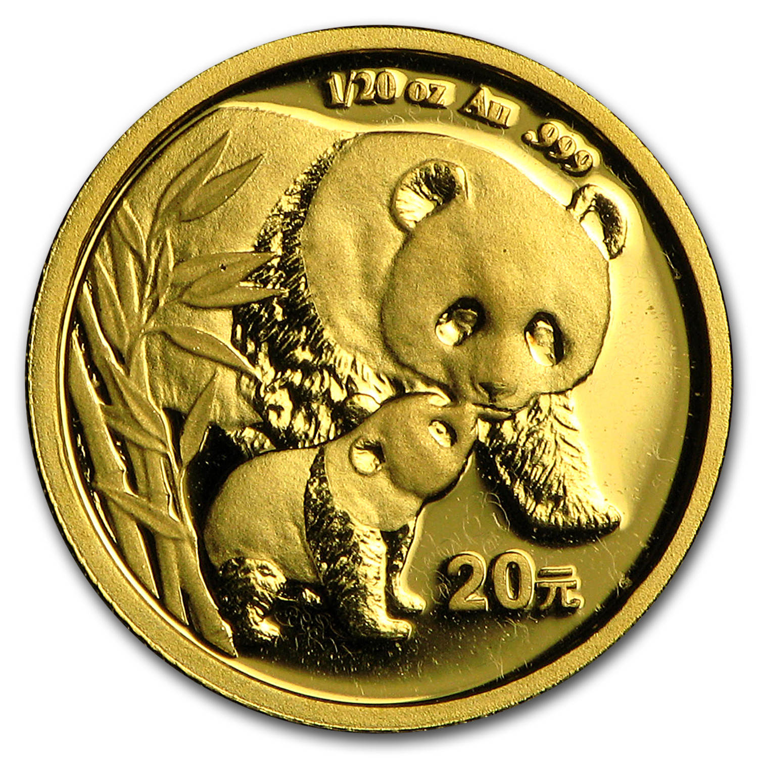 2004 China 1/20 oz Gold Panda BU (Not Sealed)