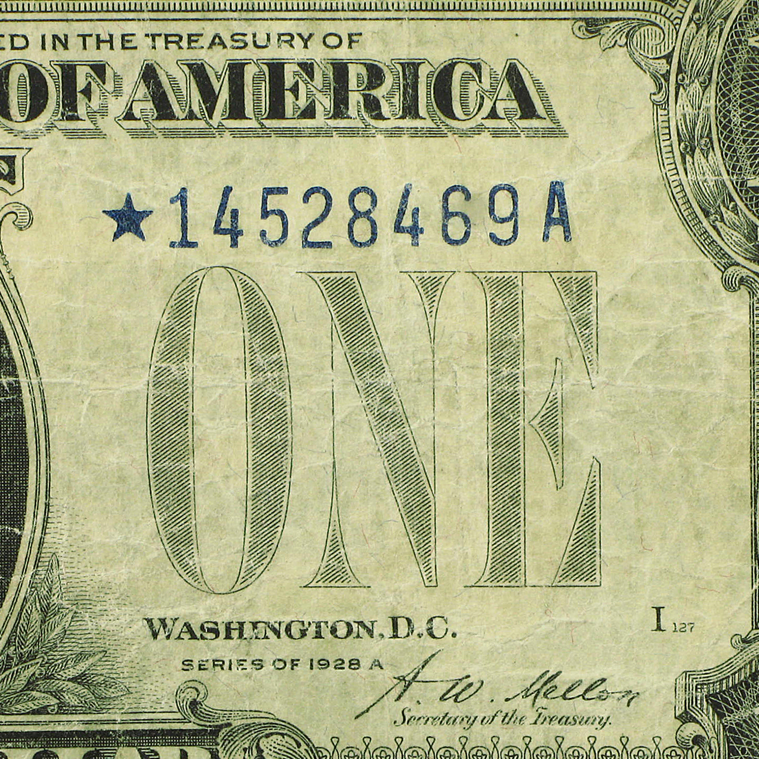 1928-A* $1.00 Silver Certificates VG+ (Star Note)