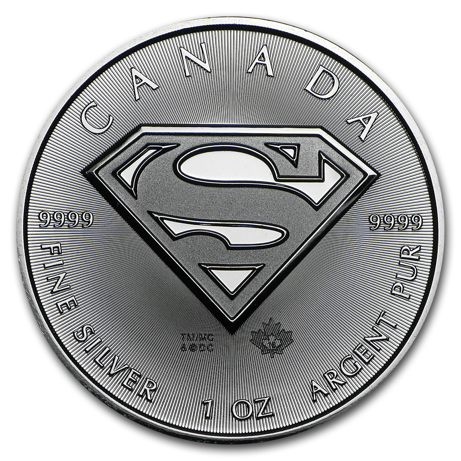 2016 Canada 1 oz Silver $5 SUPERMAN™ BU