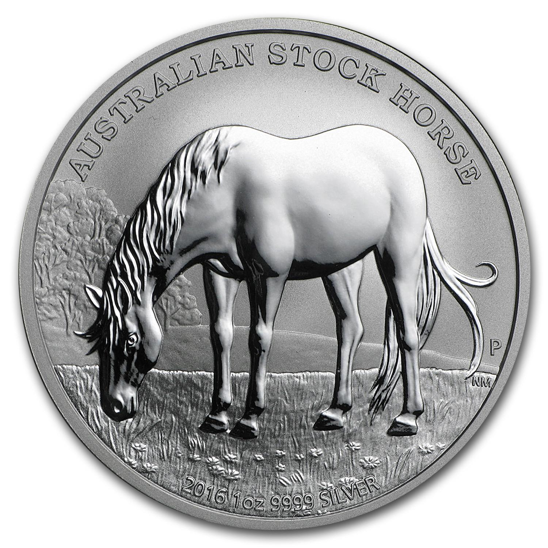 Australia 1 oz silver stock horse bu perth mint commemorative coins