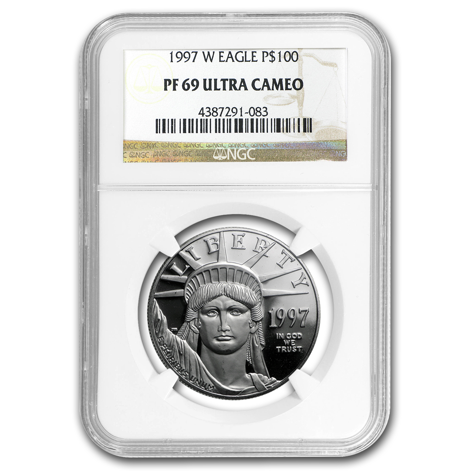 1997-W 1 oz Proof Platinum American Eagle PF-69 NGC