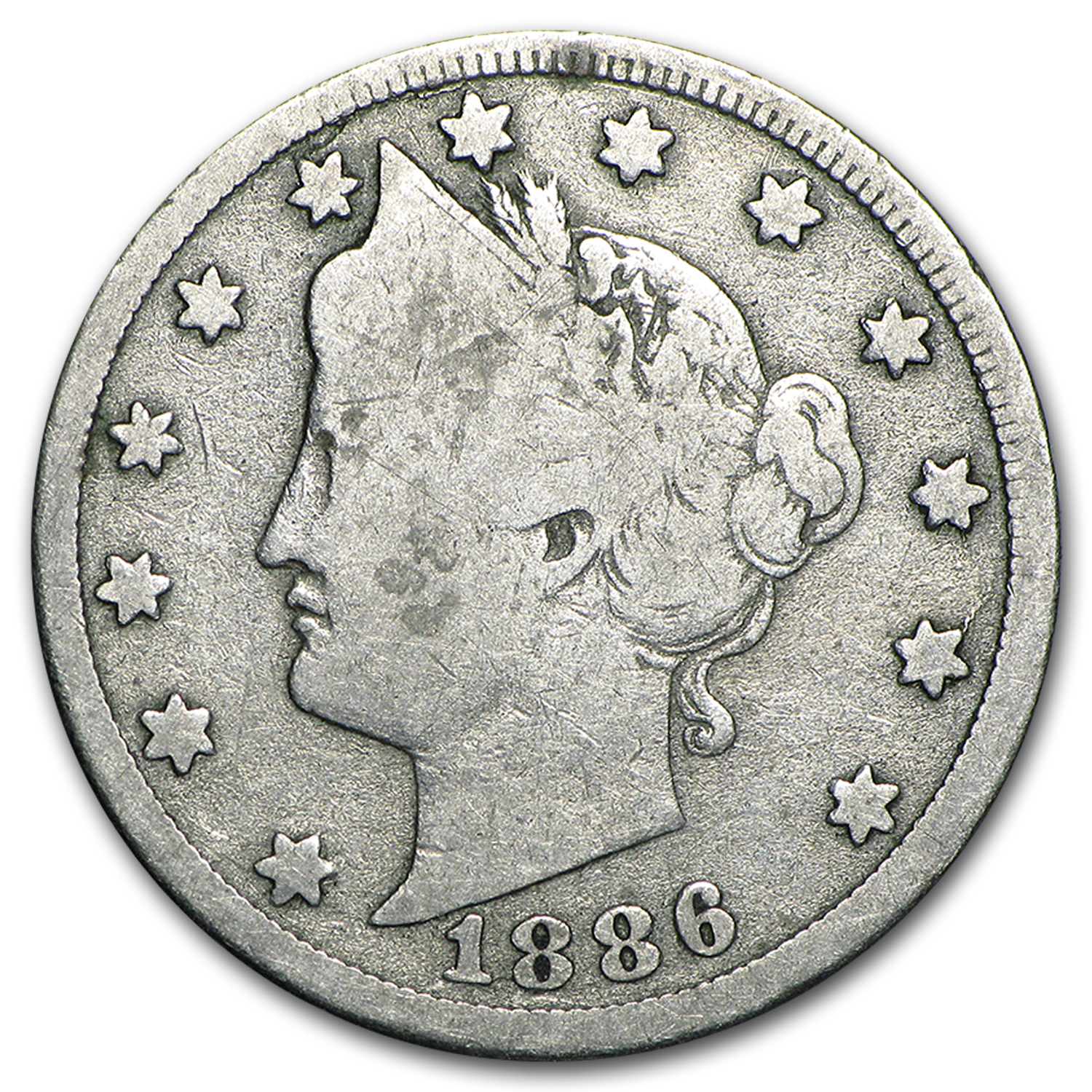 1886 Liberty Head V Nickel Good
