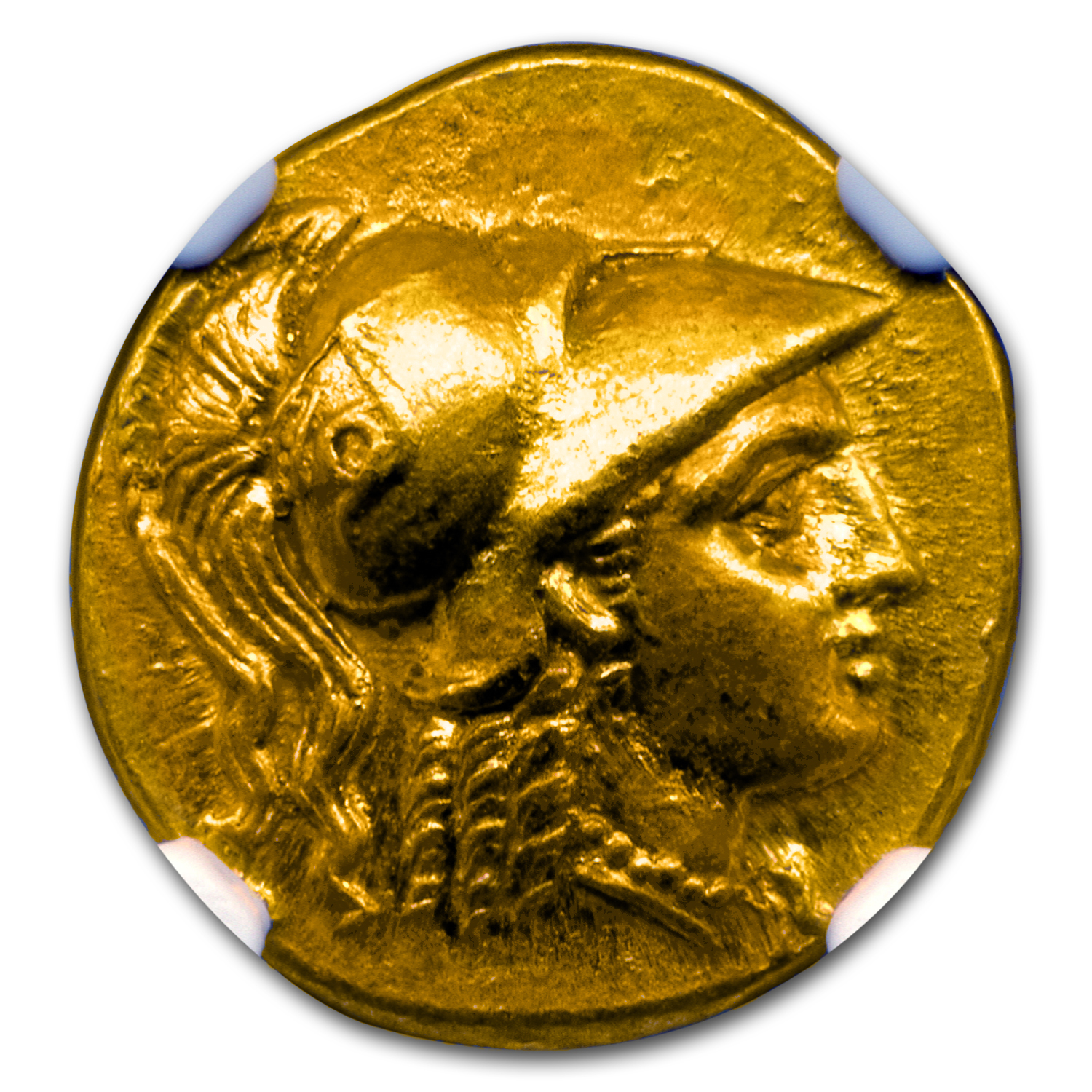 Macedonia Gold Stater Alexander III (336-323 BC) CH MS NGC