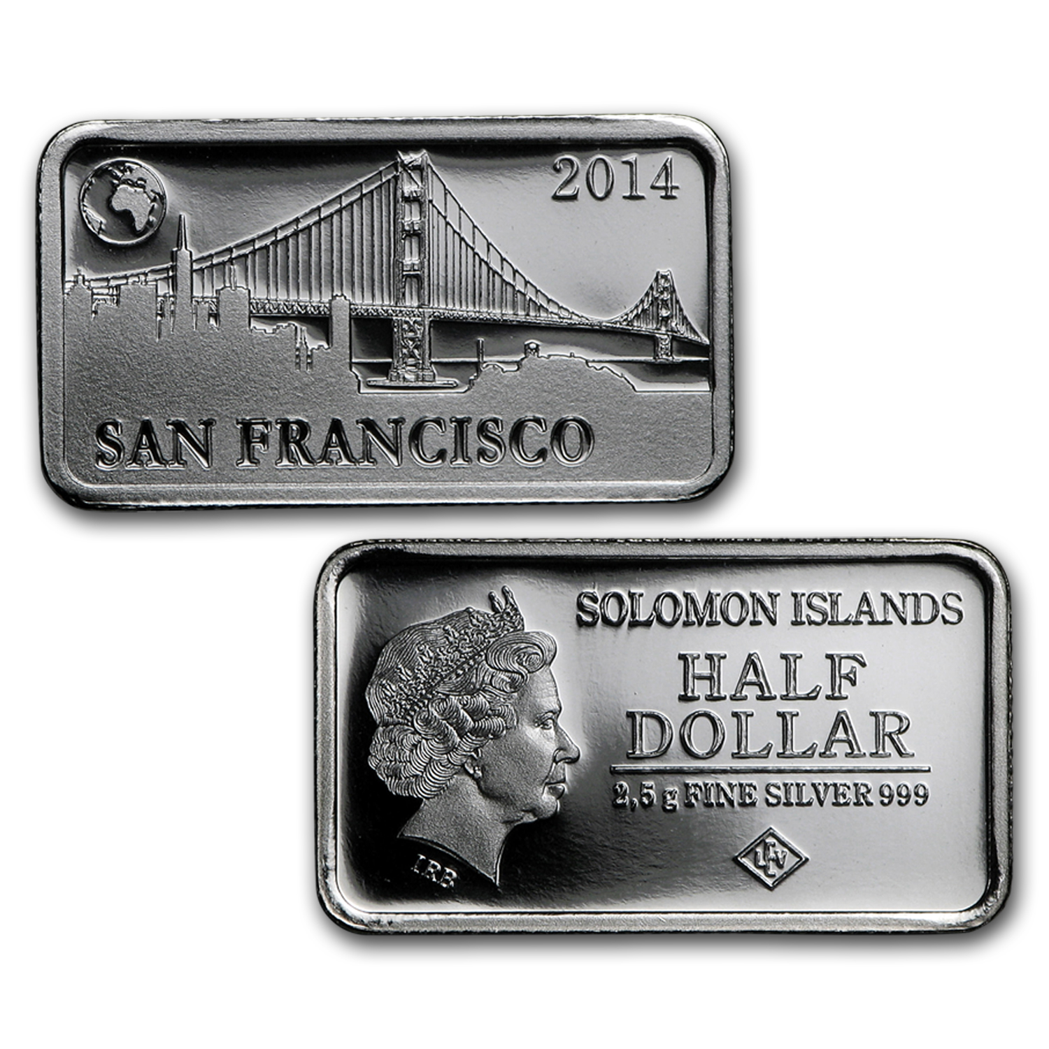 2014 Solomon Island 2.5 gr Silver Landmarks of the World Set