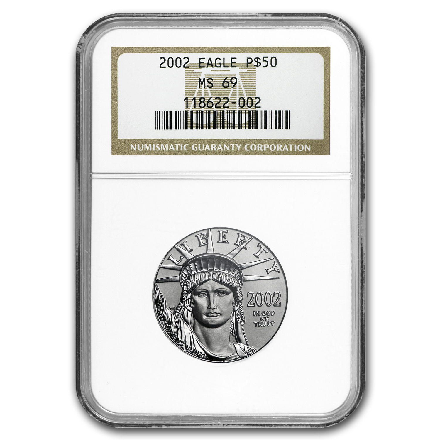 Random Year 1/2 oz Platinum American Eagle MS-69 NGC
