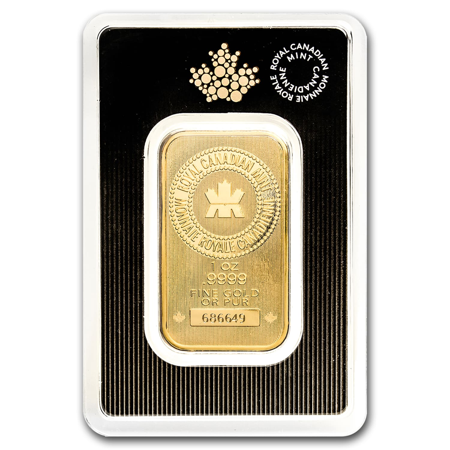 1 Oz Gold Bar New Royal Canadian Mint In Assay Royal