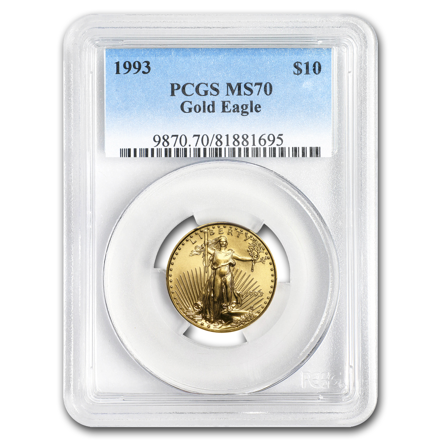 1993 1/4 oz Gold American Eagle MS-70 PCGS