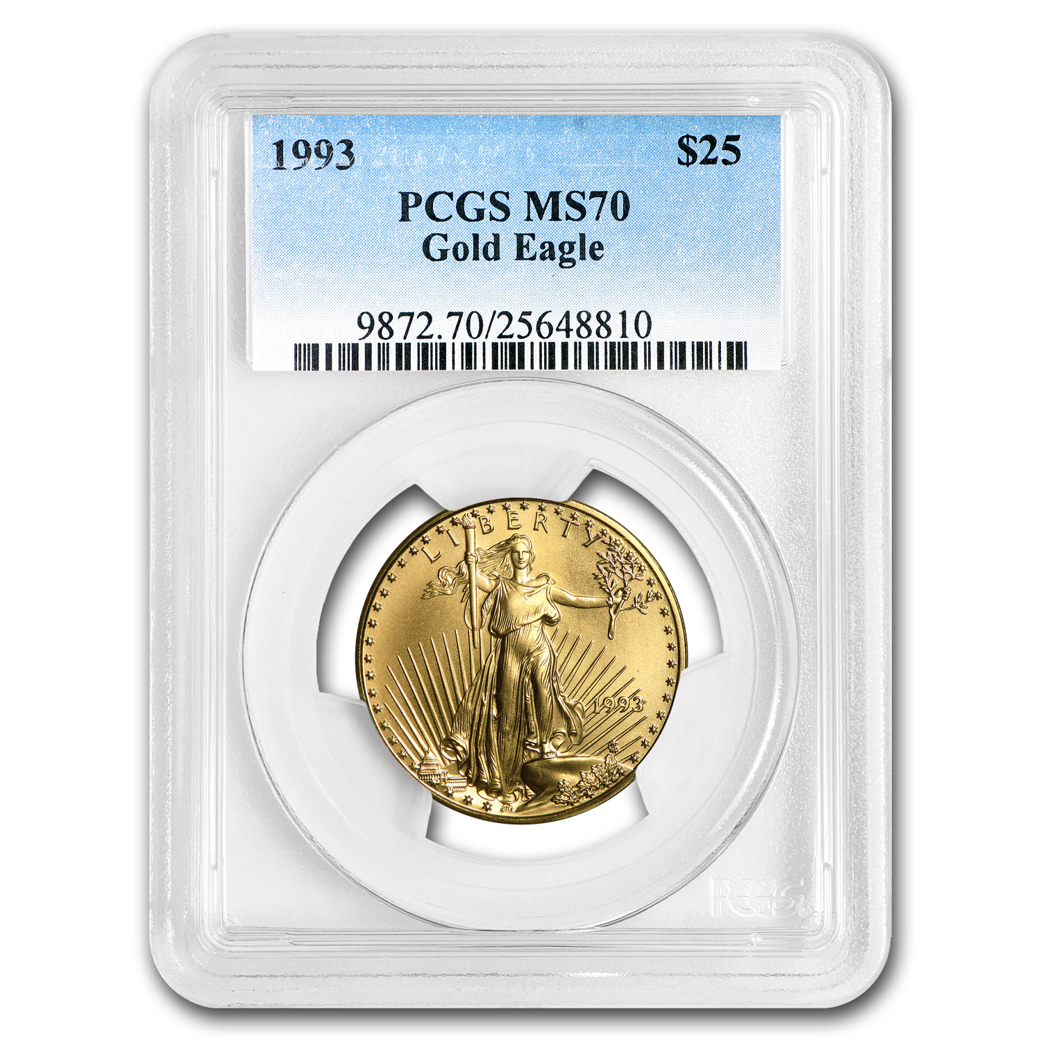 1993 1/2 oz Gold American Eagle MS-70 PCGS (Registry Set)