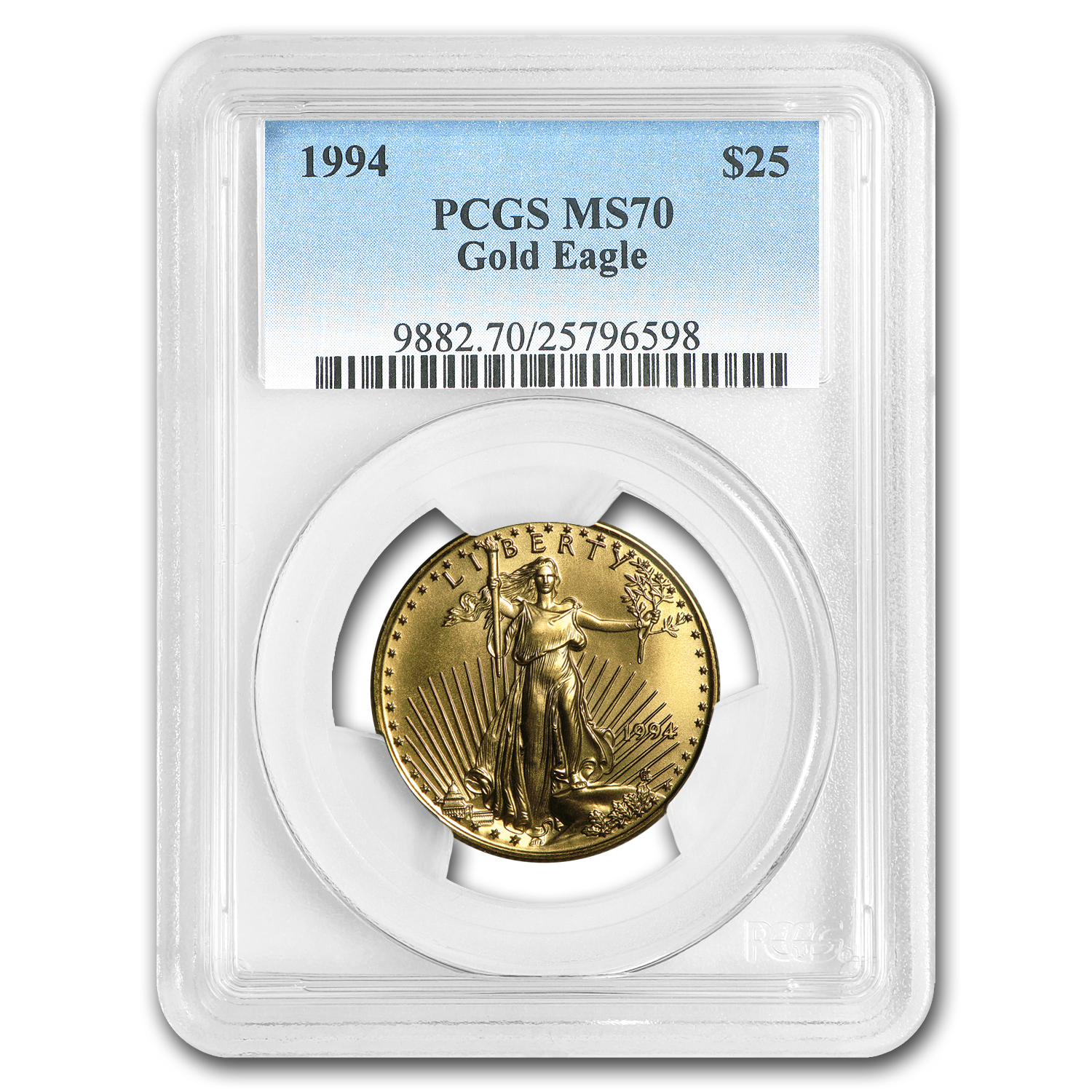 1994 1/2 oz Gold American Eagle MS-70 PCGS (Registry Set)