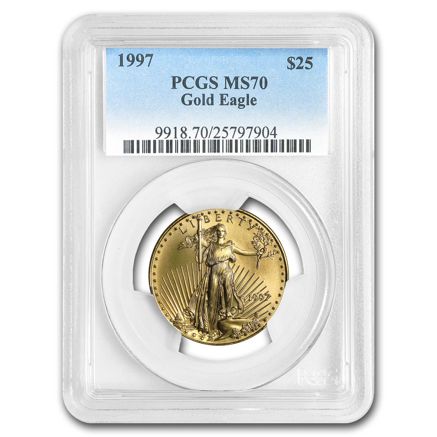 1997 1/2 oz Gold American Eagle MS-70 PCGS (Registry Set)