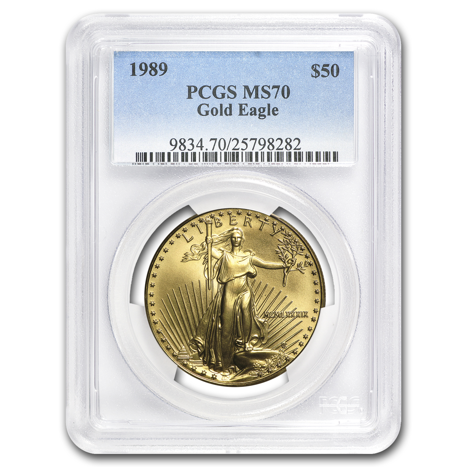 1989 1 oz Gold American Eagle MS-70 PCGS (Registry Set)