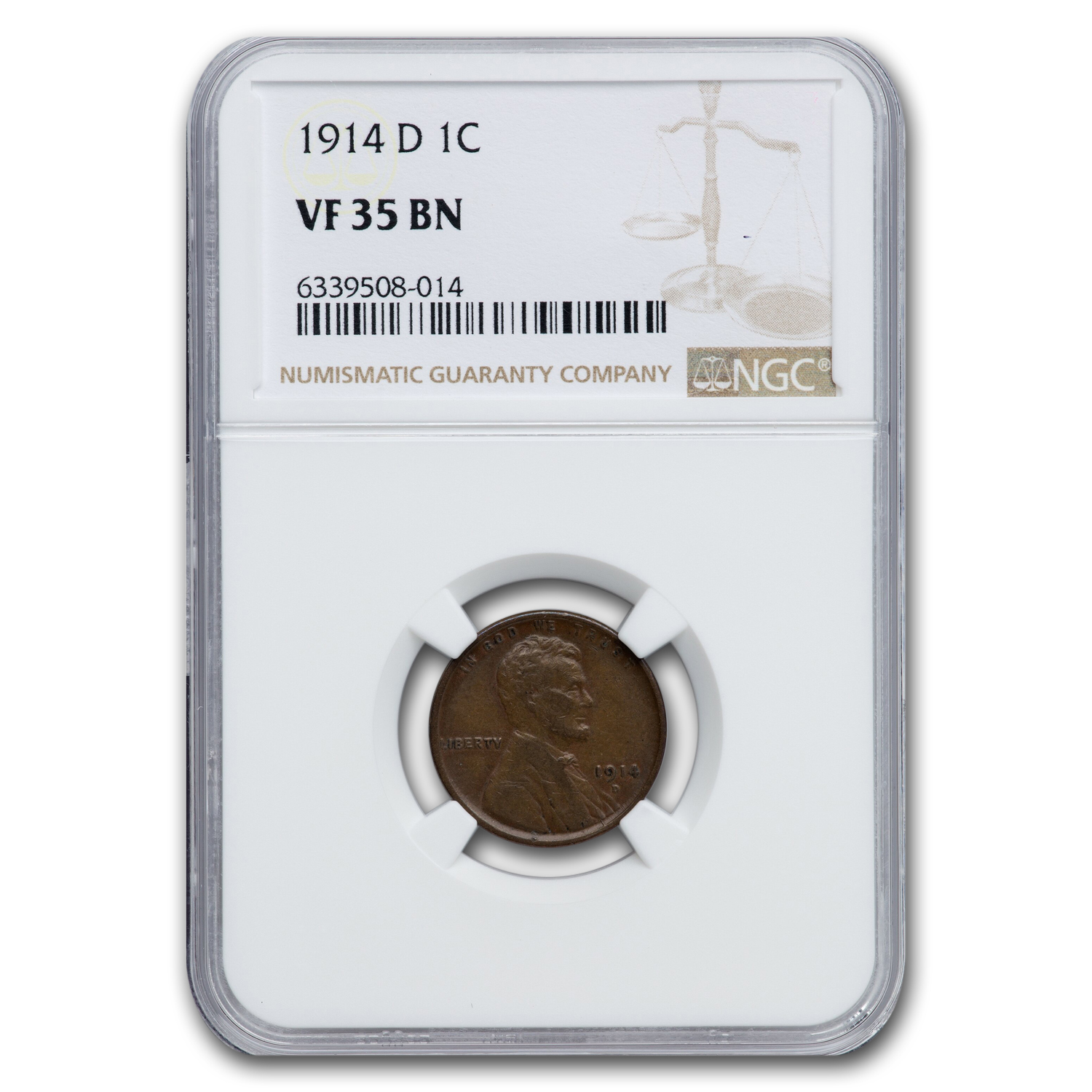 1914-D Lincoln Cent VF-35 NGC