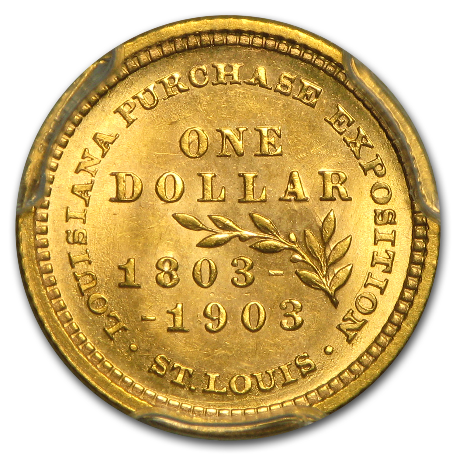 1903 Gold $1.00 Louisiana Purchase McKinley MS-64+ PCGS