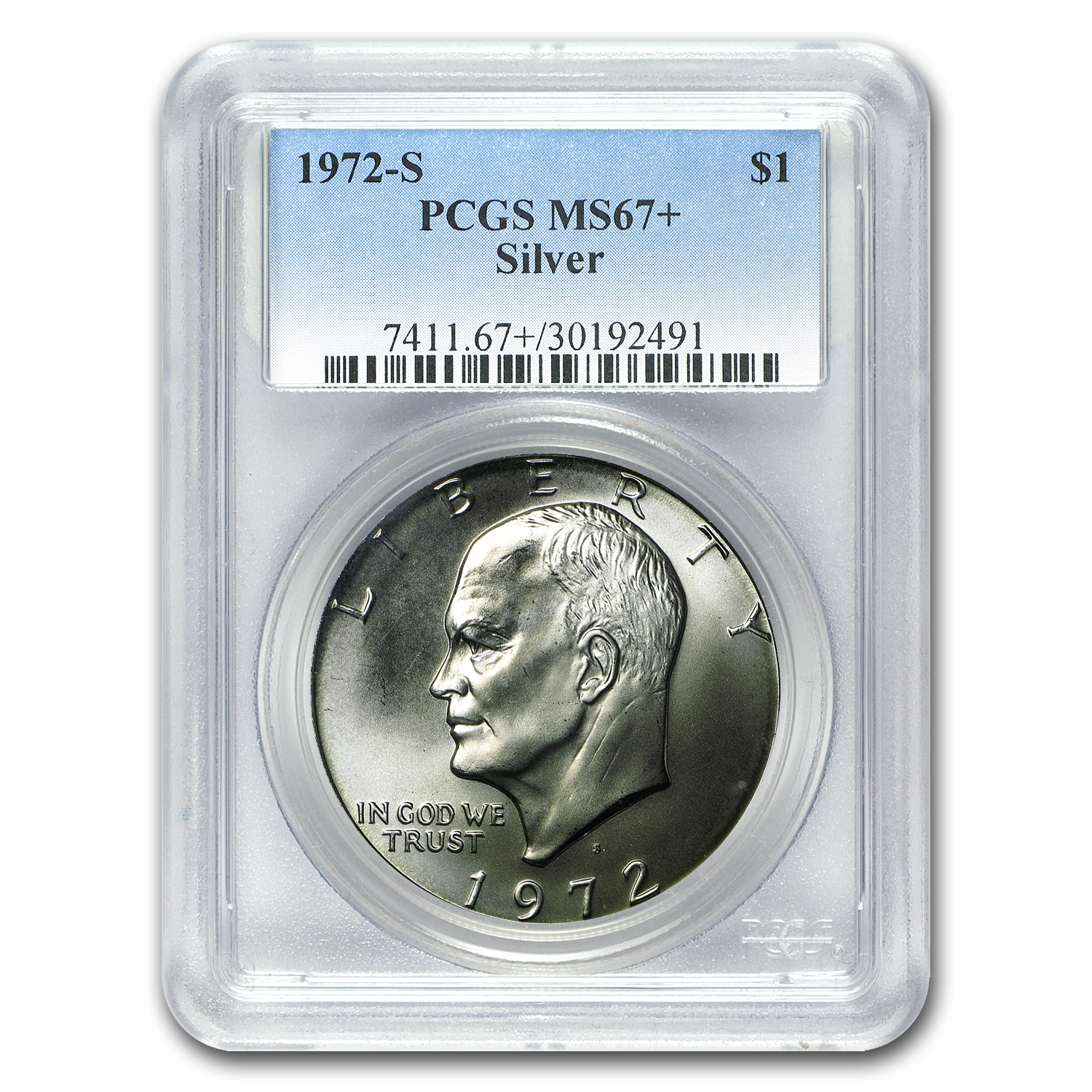1972-S Silver Eisenhower Dollar MS-67+ PCGS