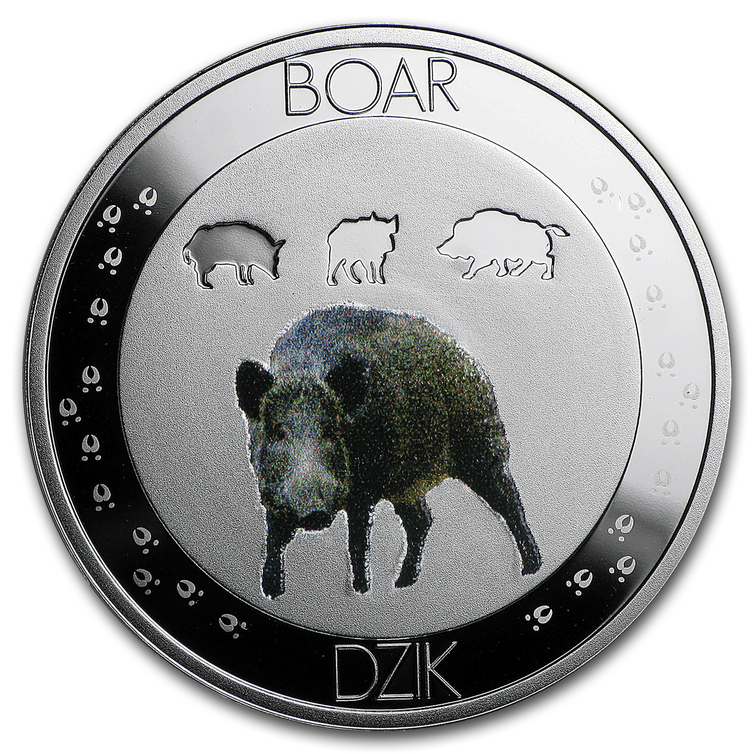 2016 Niue Silver Symbols of Nature Wild Boar Proof