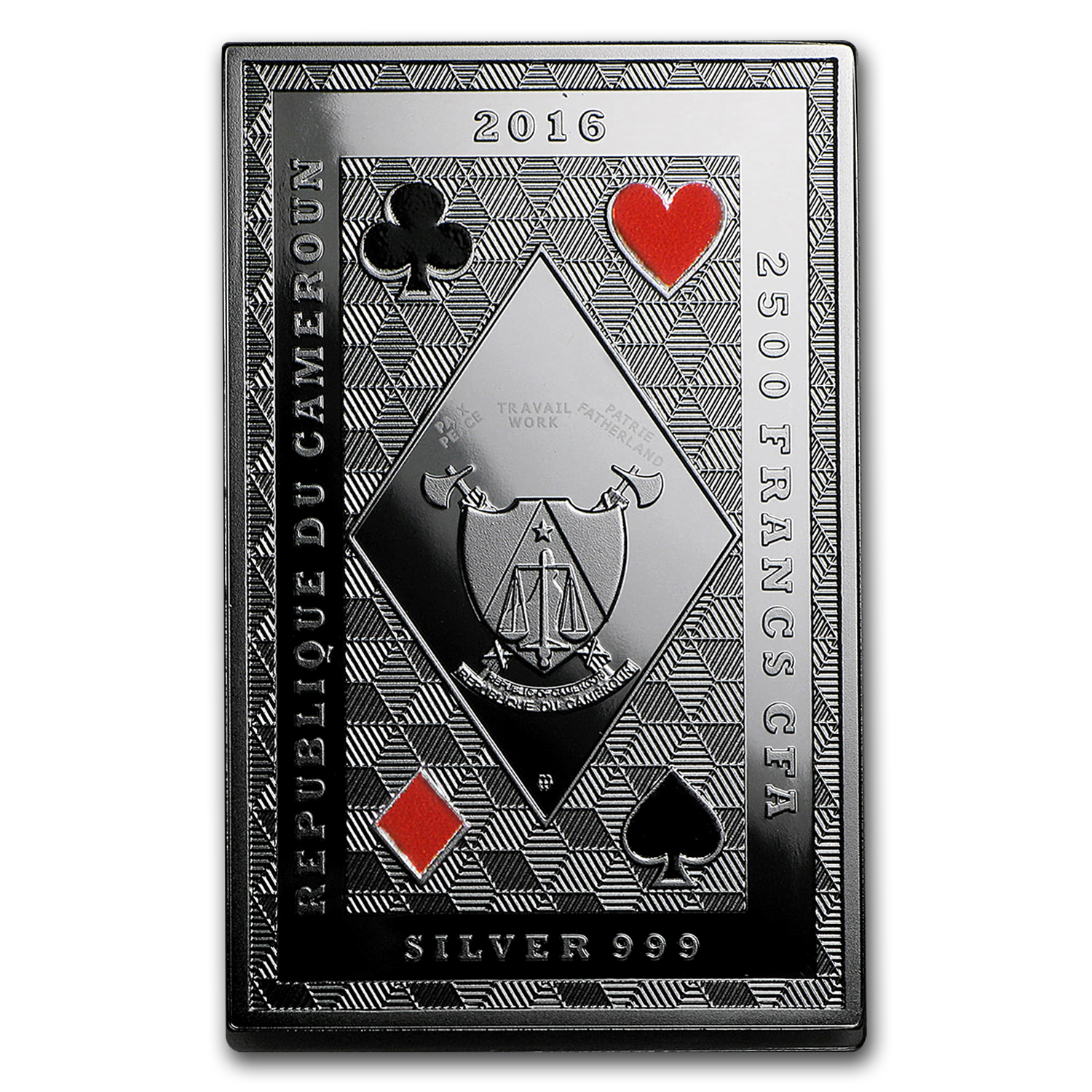 2016 Republic of Cameroon Royal Poker (Queen of Clubs)