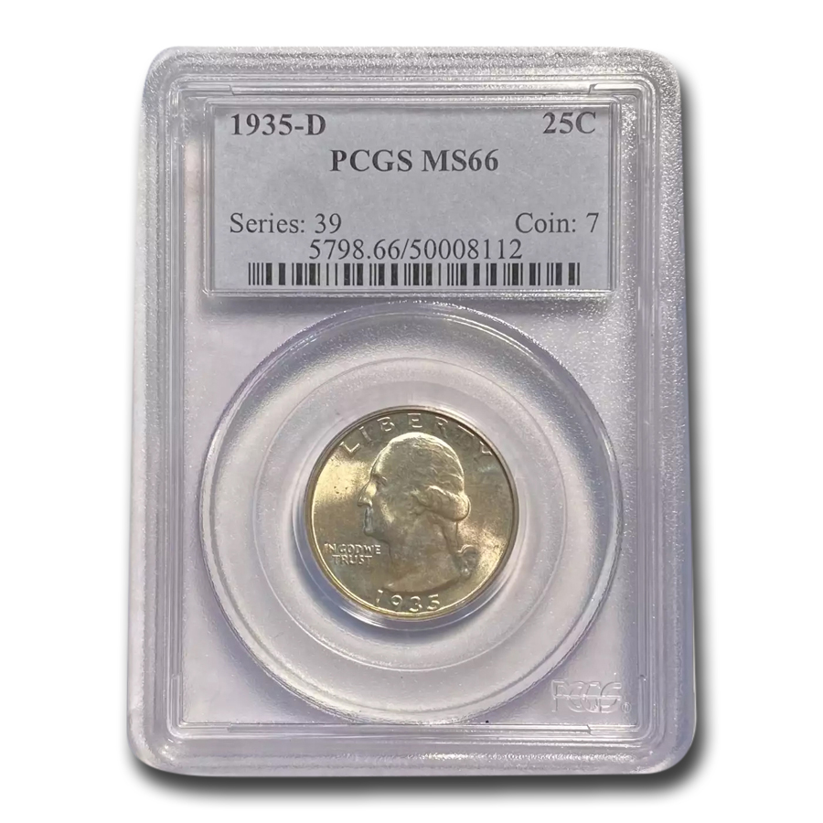1935-D Washington Quarter MS-66 PCGS
