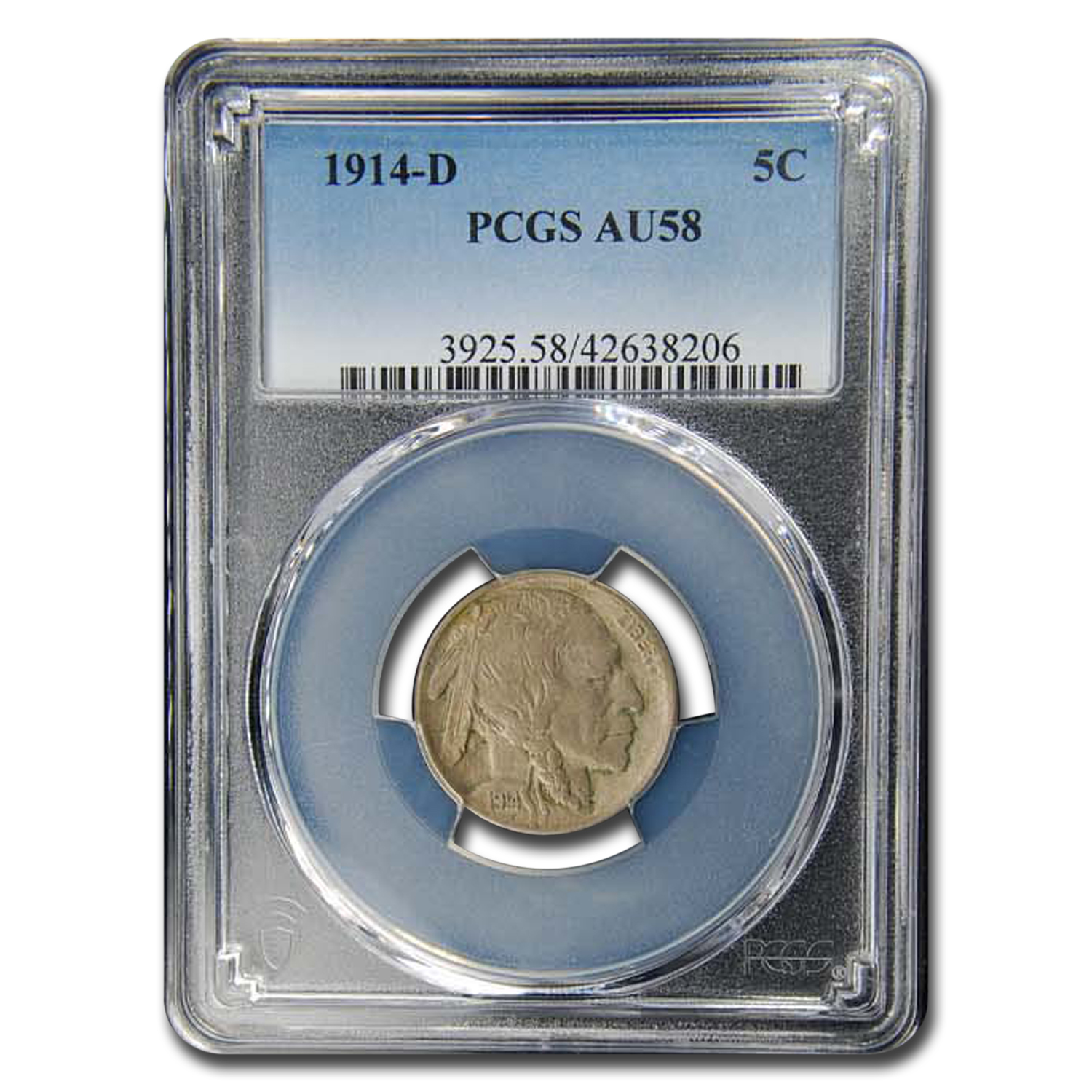 1914-D Buffalo Nickel AU-58 PCGS