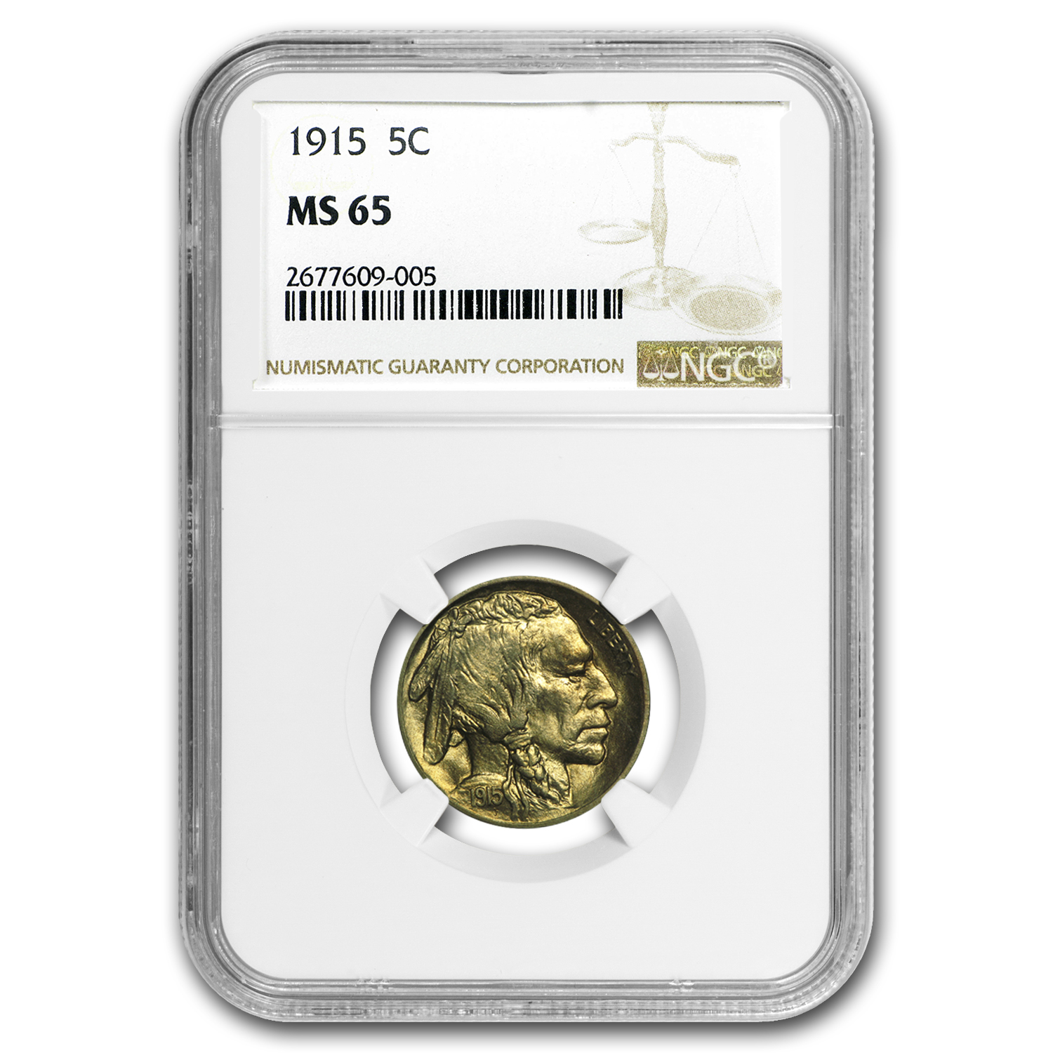1915 Buffalo Nickel MS-65 NGC