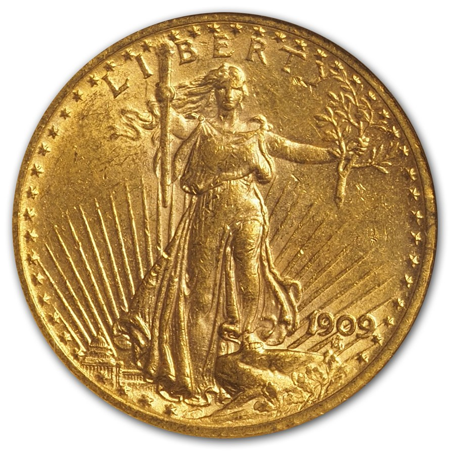 1909 20 St Gaudens Gold Double Eagle Ms 60 Ngc Ngc 20