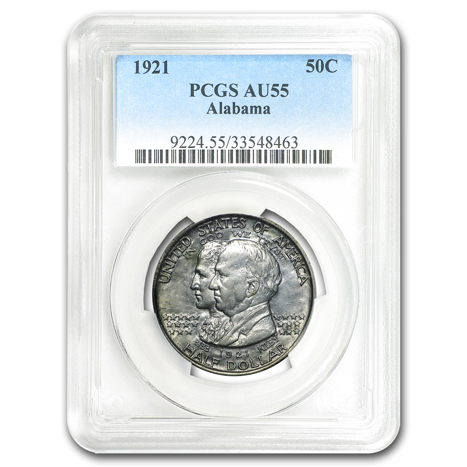 1921 Alabama Centennial Commemorative Half AU-55 PCGS