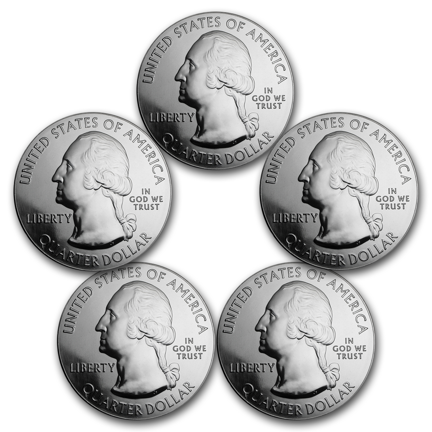 2013 5-Coin 5 oz Silver America the Beautiful Set
