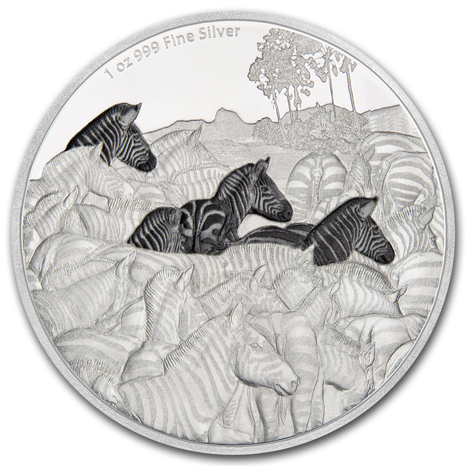 2016 Niue 1 oz Silver Great Migrations Zebra