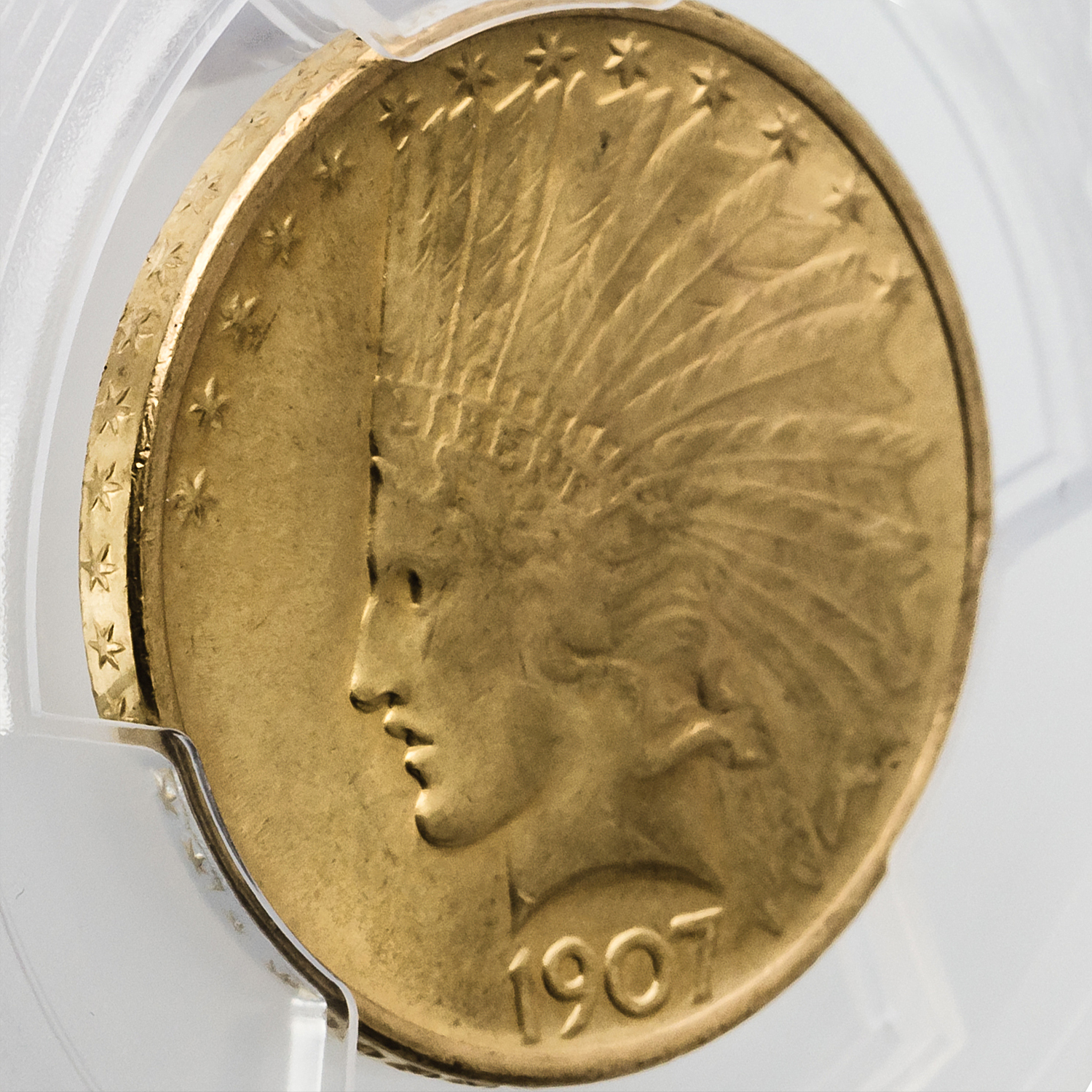 1907 $10 Indian Gold Eagle No Motto MS-66 PCGS
