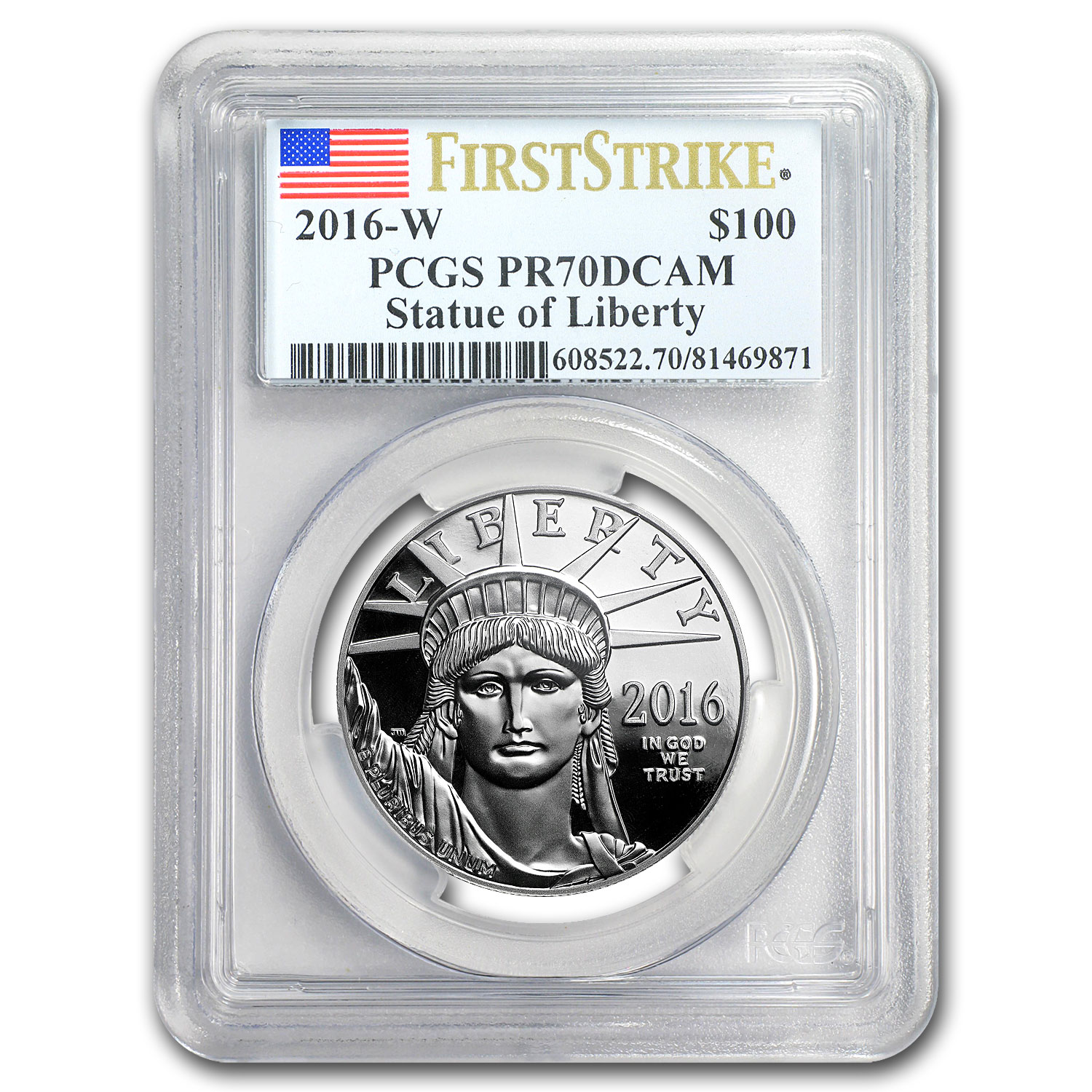 2016-W 1 oz Prf Platinum American Eagle PR-70 PCGS (First Strike)