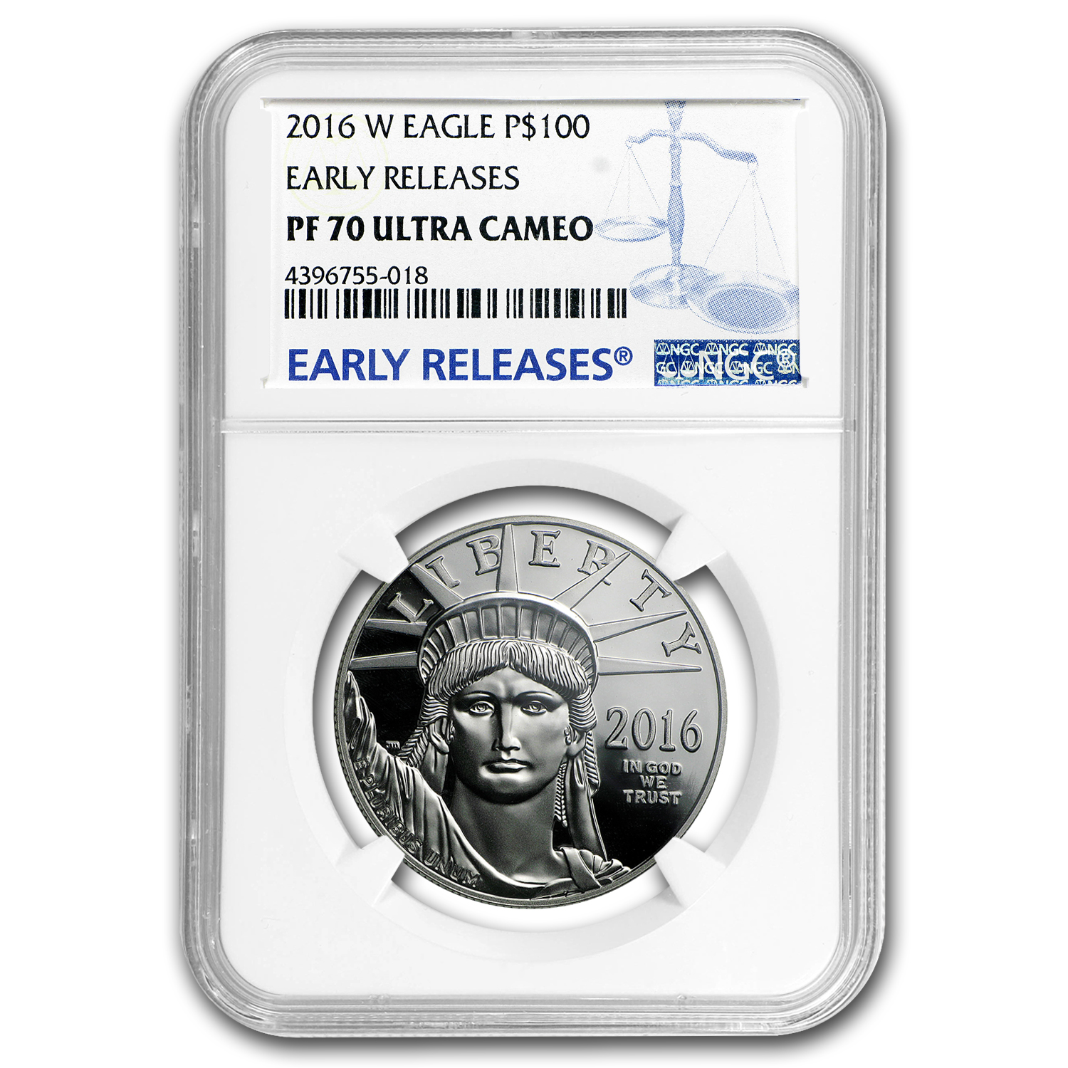 2016-W 1 oz Proof Platinum American Eagle PF-70 NGC (ER)