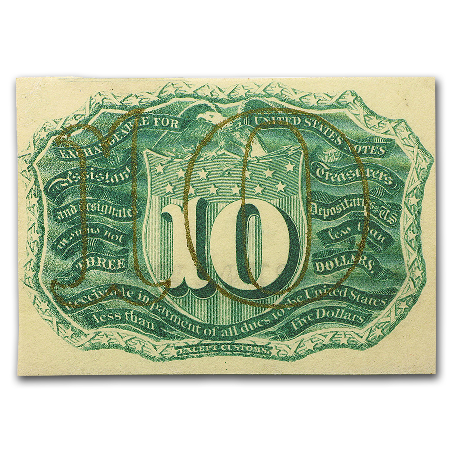 2nd Issue Fractional Currency 10 Cents CU
