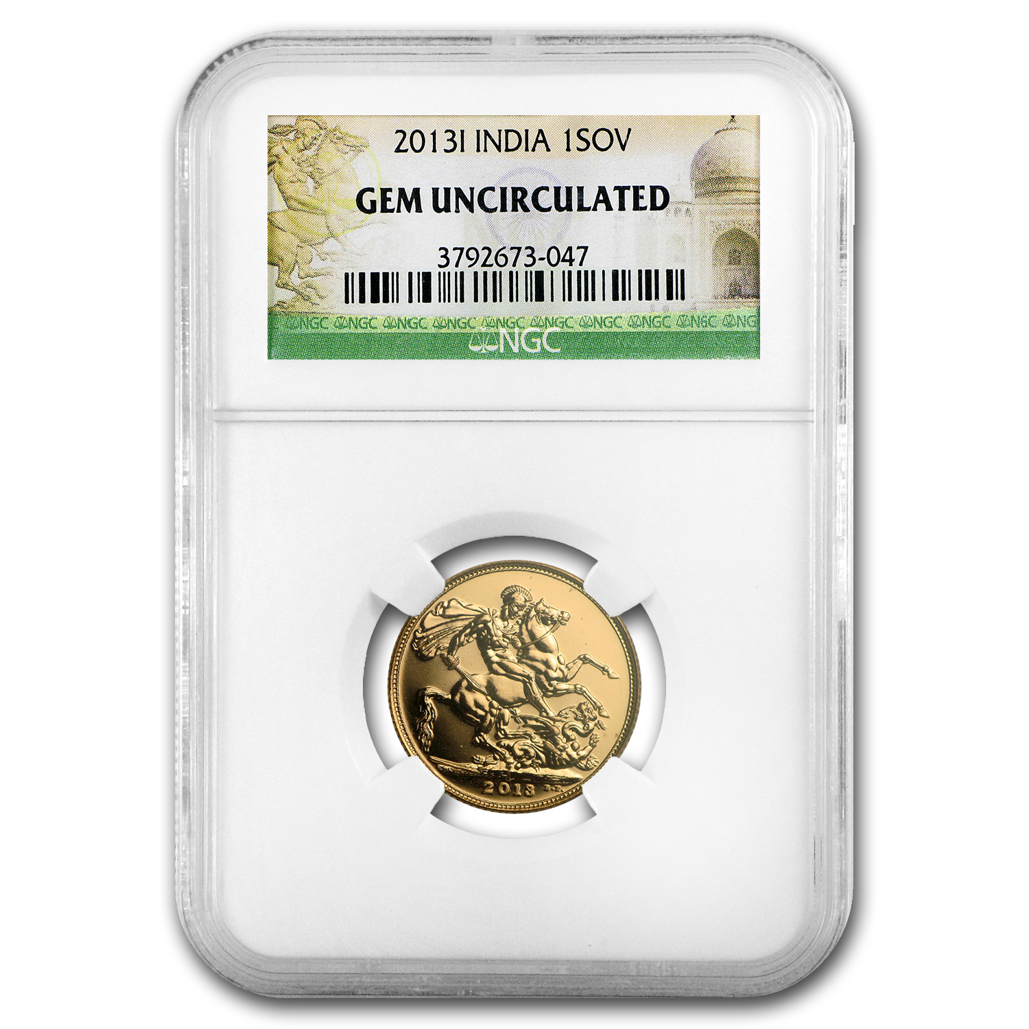 2013 India Gold Sovereign Gem Unc NGC