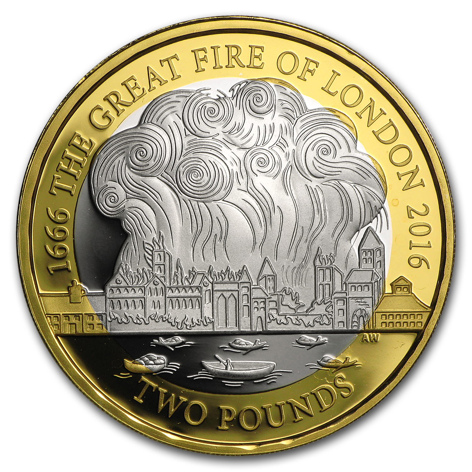 2016 Great Britain 163 2 Silver Great Fire Of London Proof