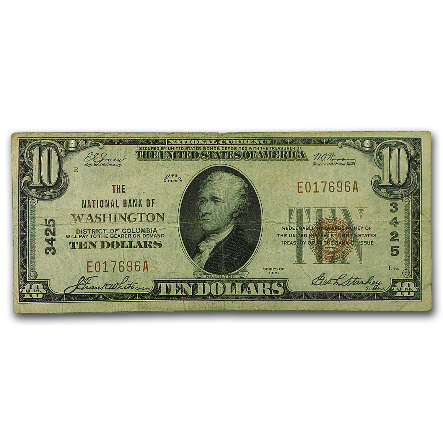 1929 Type 1 $10 Washington, DC VF (CH#3425)