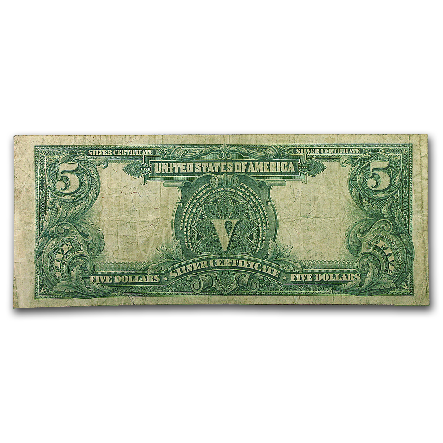1899 $5.00 Silver Certificate Chief Running Antelope Fine FR#281
