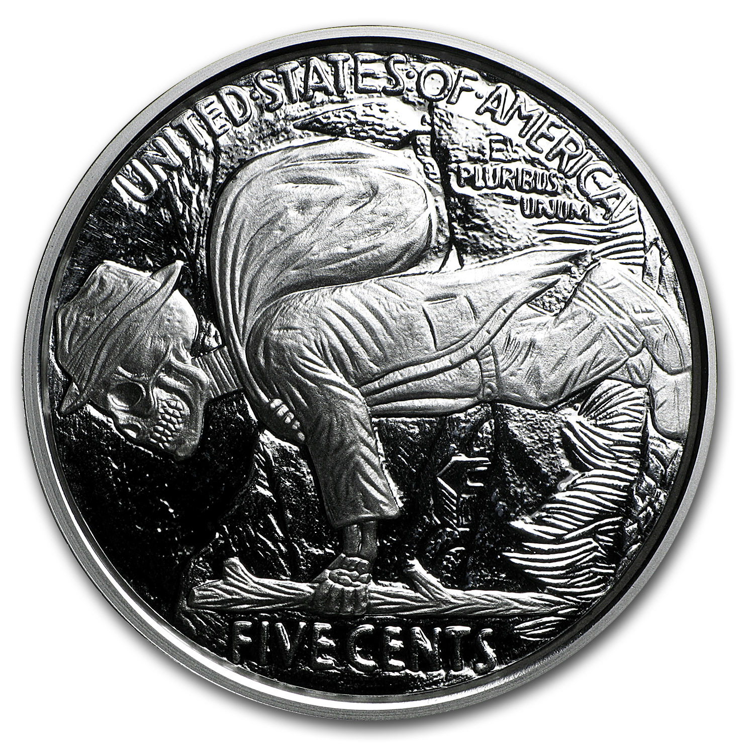 1 oz Silver Round - Hobo Nickel Replica (Skulls & Scrolls)
