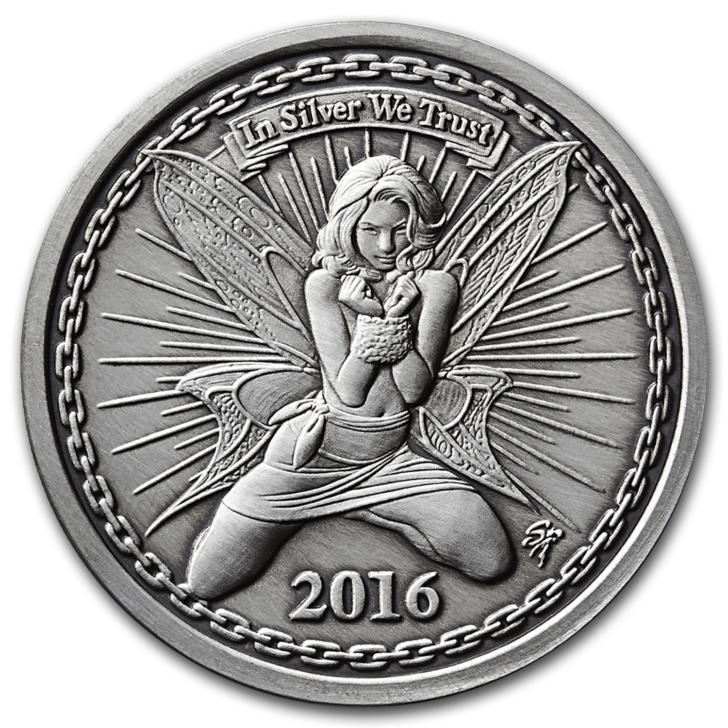 1 oz Silver Antique Round - Reddit Silverbug Alyx The Fairy