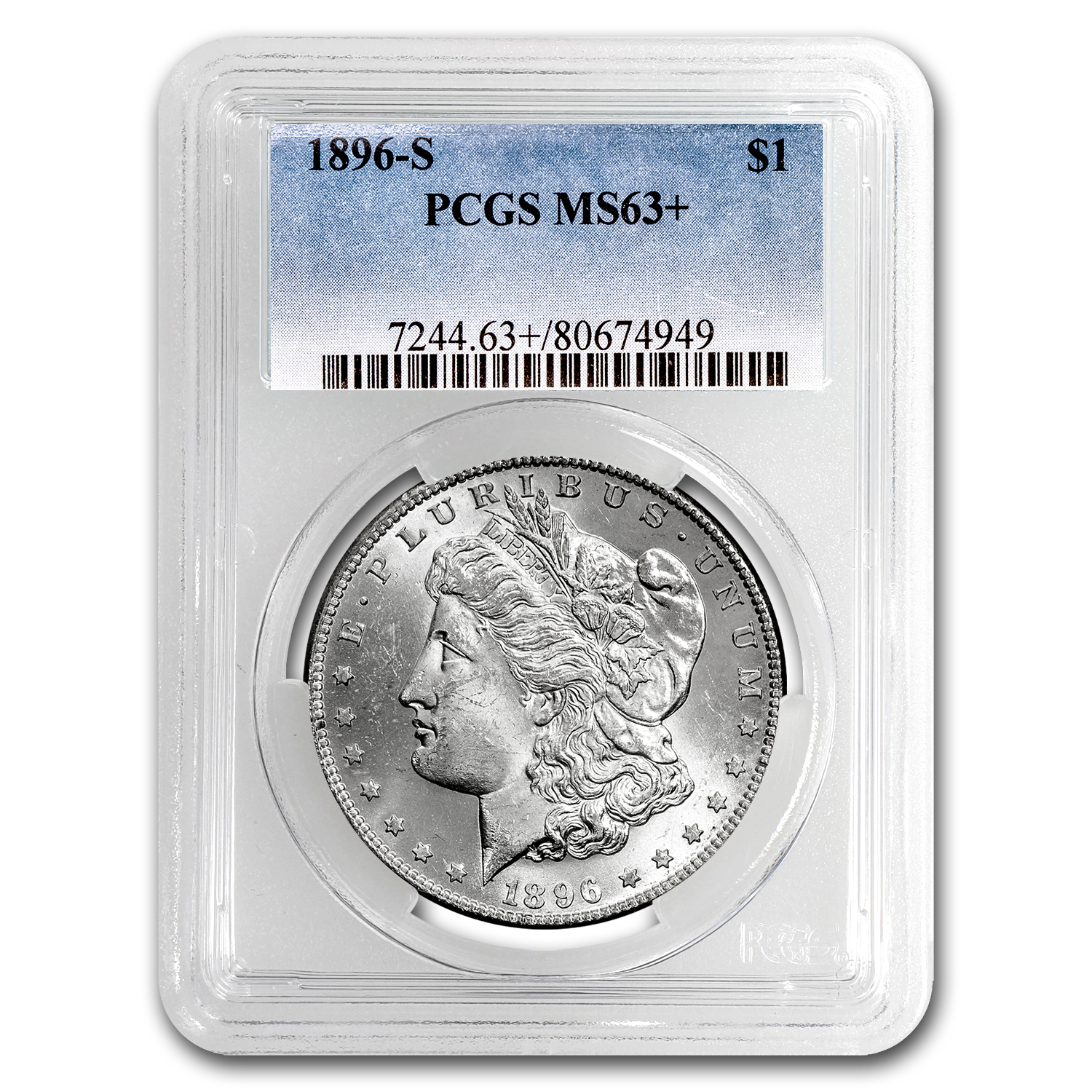 1896-S Morgan Dollar MS-63+ PCGS