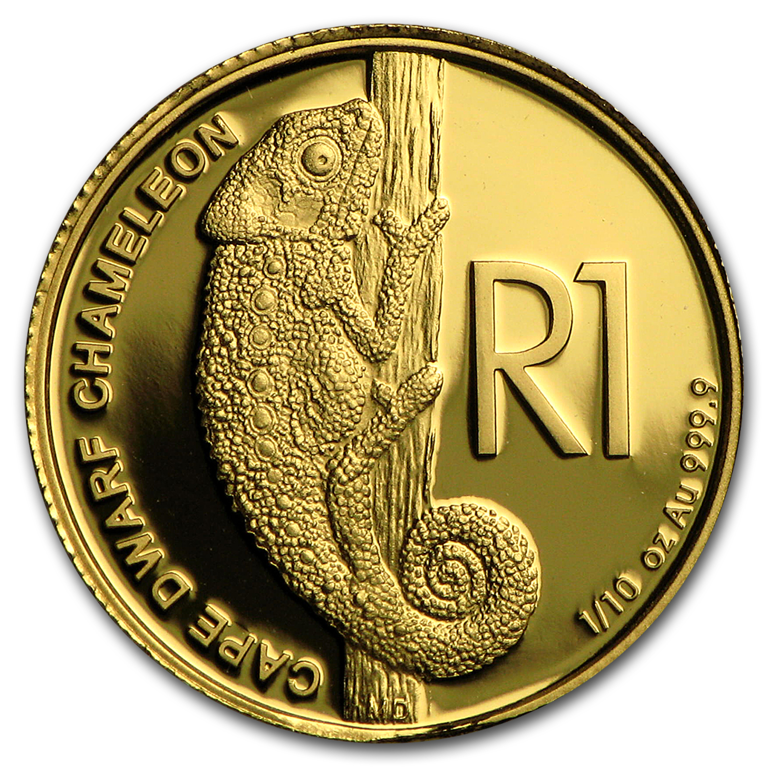2016 South Africa 1/10 oz Gold Reptiles of S. Africa (Chameleon)
