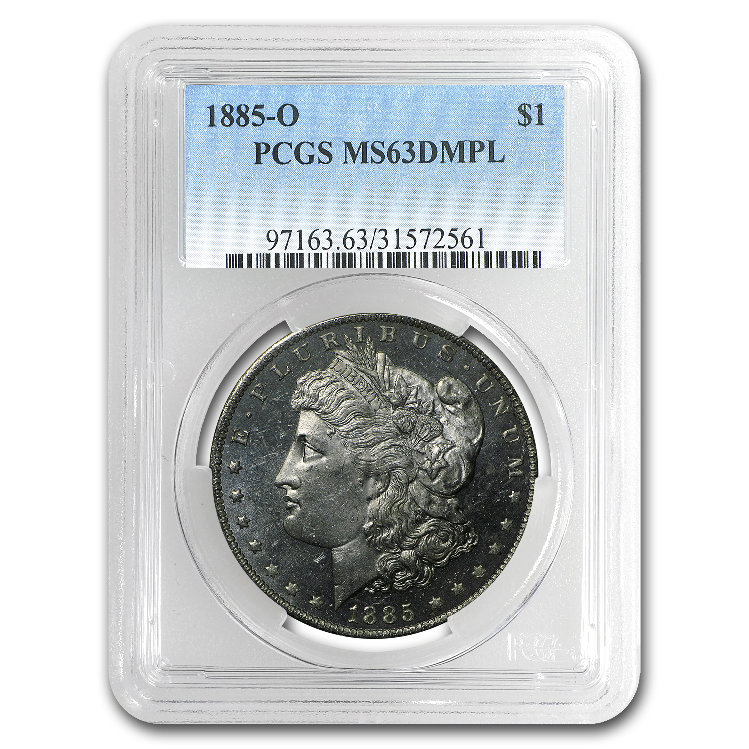 1885-O Morgan Dollar MS-63 DMPL PCGS