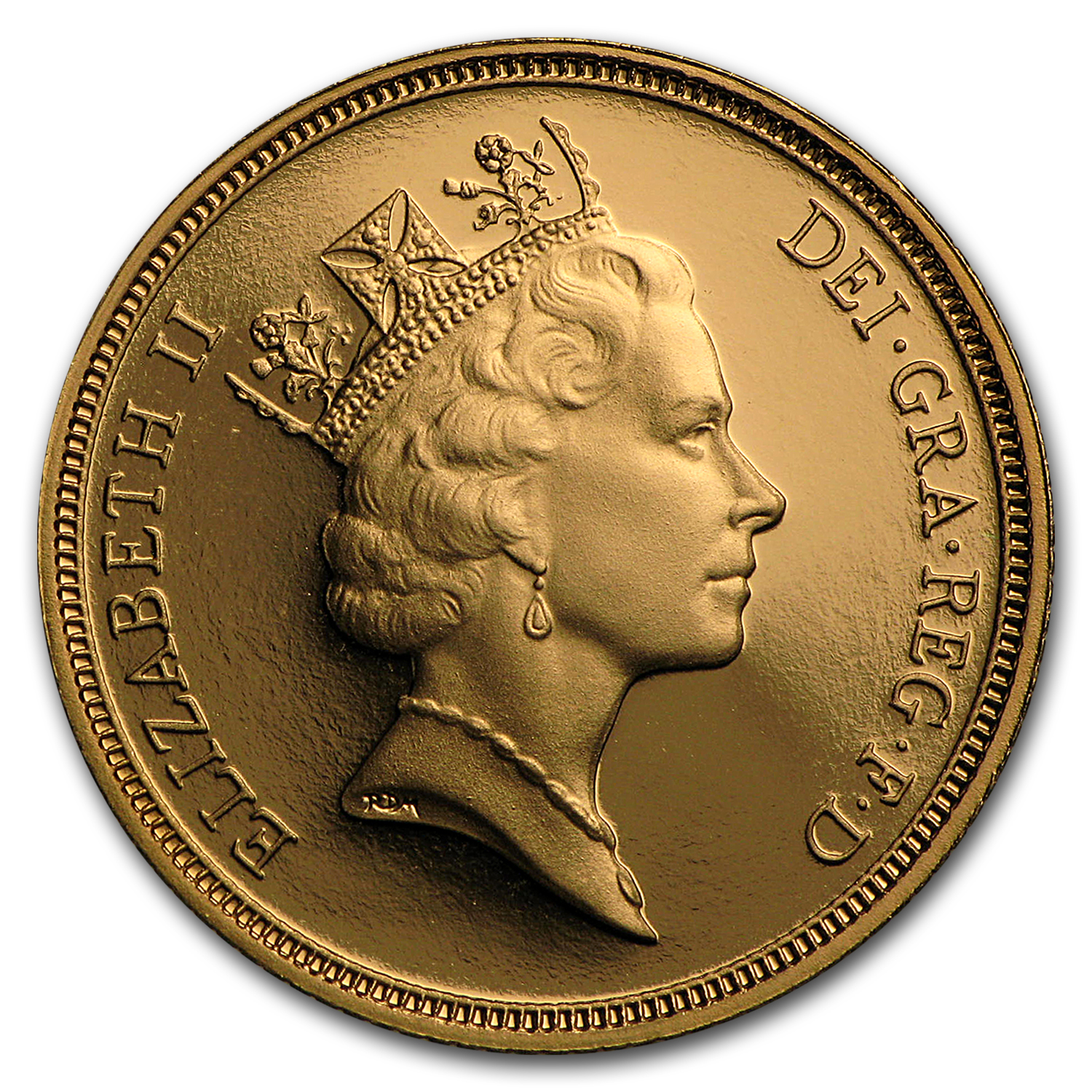 1985-1997 Great Britain Gold Sovereign Elizabeth II Proof (Box)