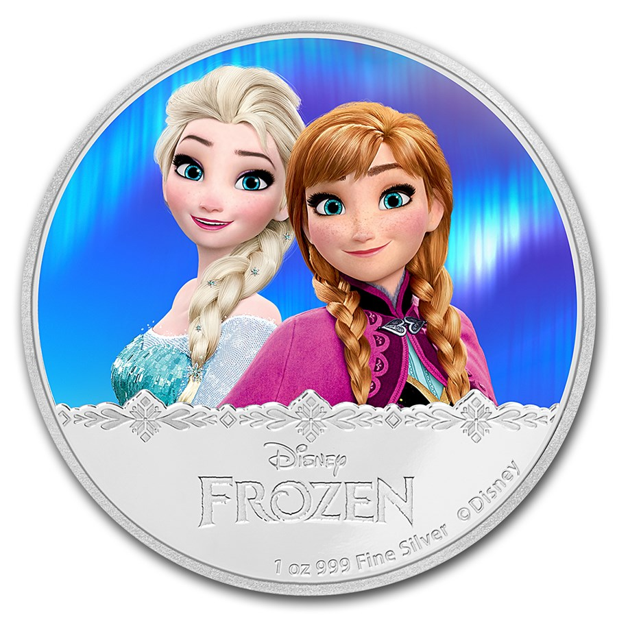 2016 niue 1 oz silver 2 disney frozen elsa anna new zealand mint disney coin series apmex - Frozen anna disney ...